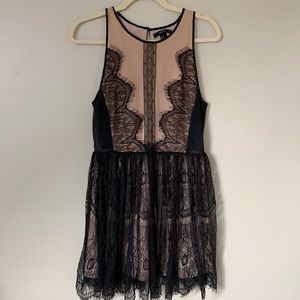 F21 Nude and Lace Dress